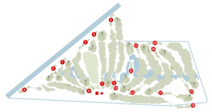 The 18 holes course of Argenta Golf Club