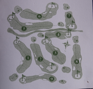 the lay out of the course of Tirrenia Golf