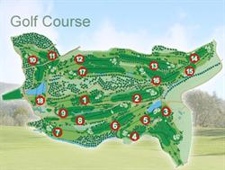 overview of 18 holes at Montecatini Golf