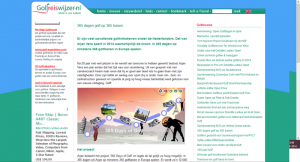 article in golfreiswijzer.nl about 365 Days of Golf