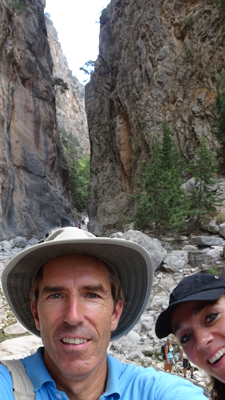 old friends in the Samaria Gorge in Creta