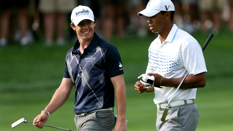 the two biggest golf players with their nickname